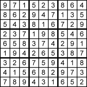 7-13-15 Sudoku Solution