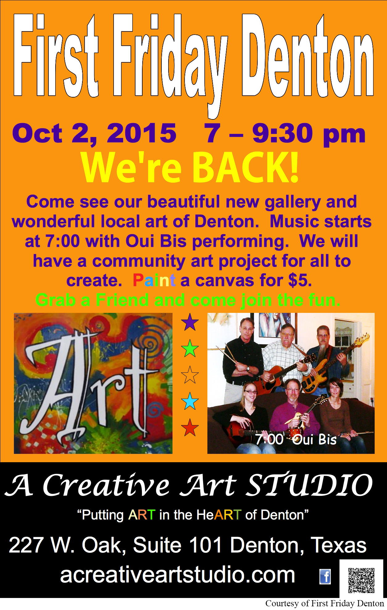 First-Friday-Denton-October-2-2015-A-Creative-Flyer with credit