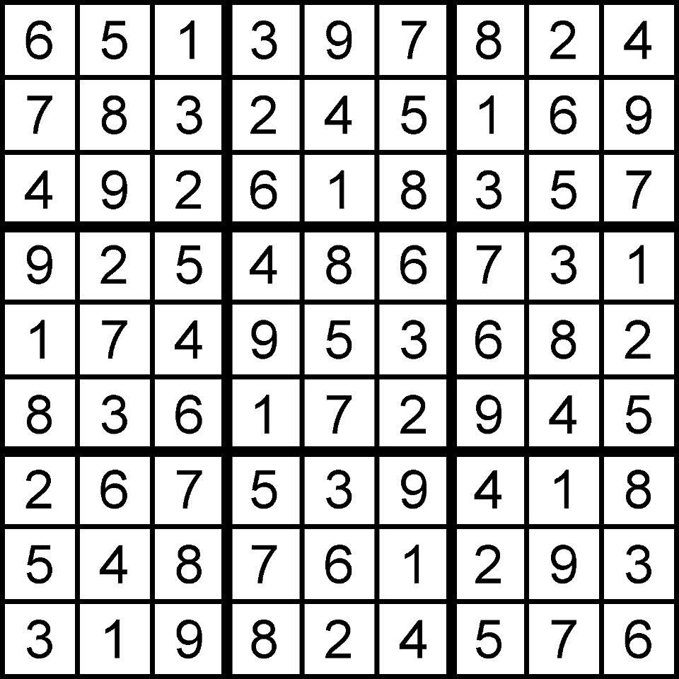 9-7-15 Sudoku Solution