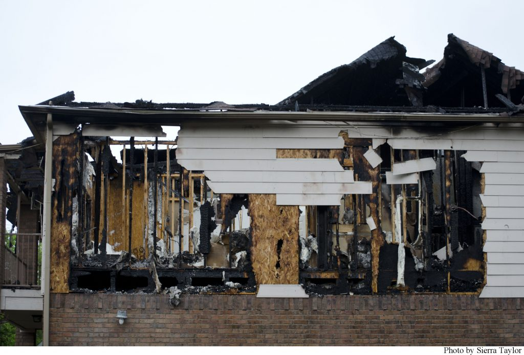 The fire was started by a lightning strike Wednesday, March 20 approximately at 3:45 a.m.