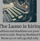 The Lasso is hiring