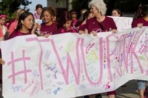 Promises of women's health: TWU holds walk for breast cancer awareness