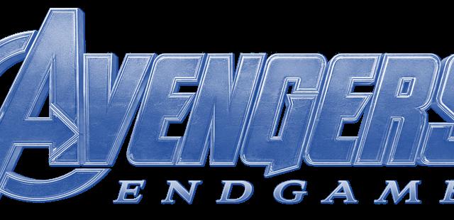 Avengers endgame logo, blue