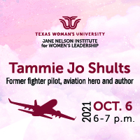Jane Nelson Institute for Women's Leadership Paup Lecture: Tammie Jo Shults, Oct. 6, 6-7 PM
